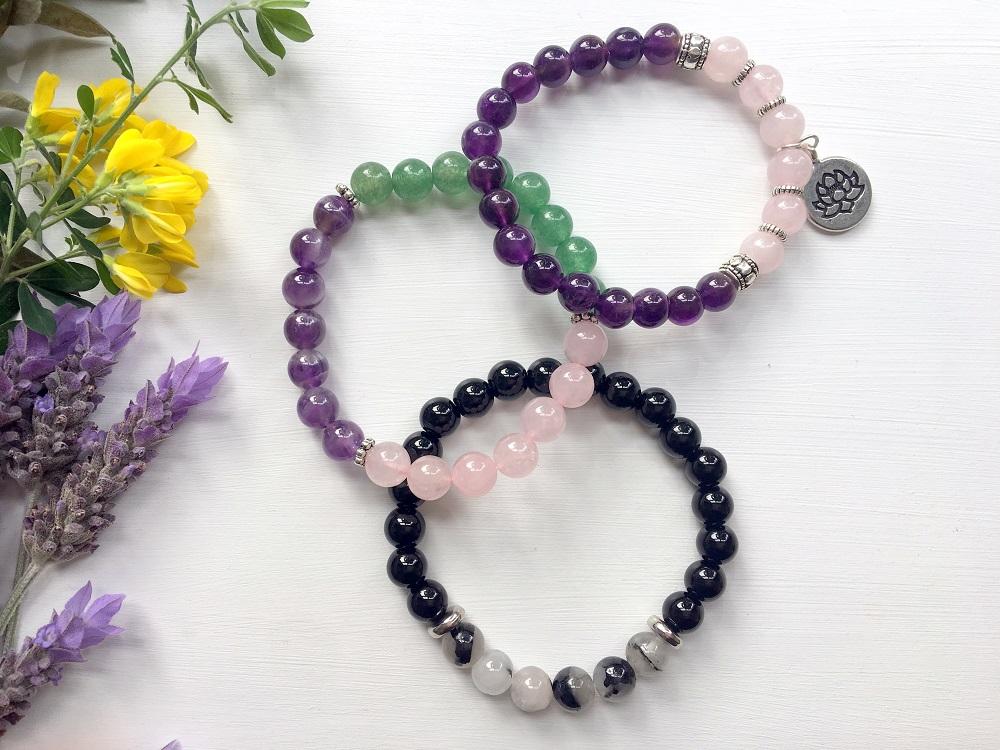 Crystal Bracelets on elastic